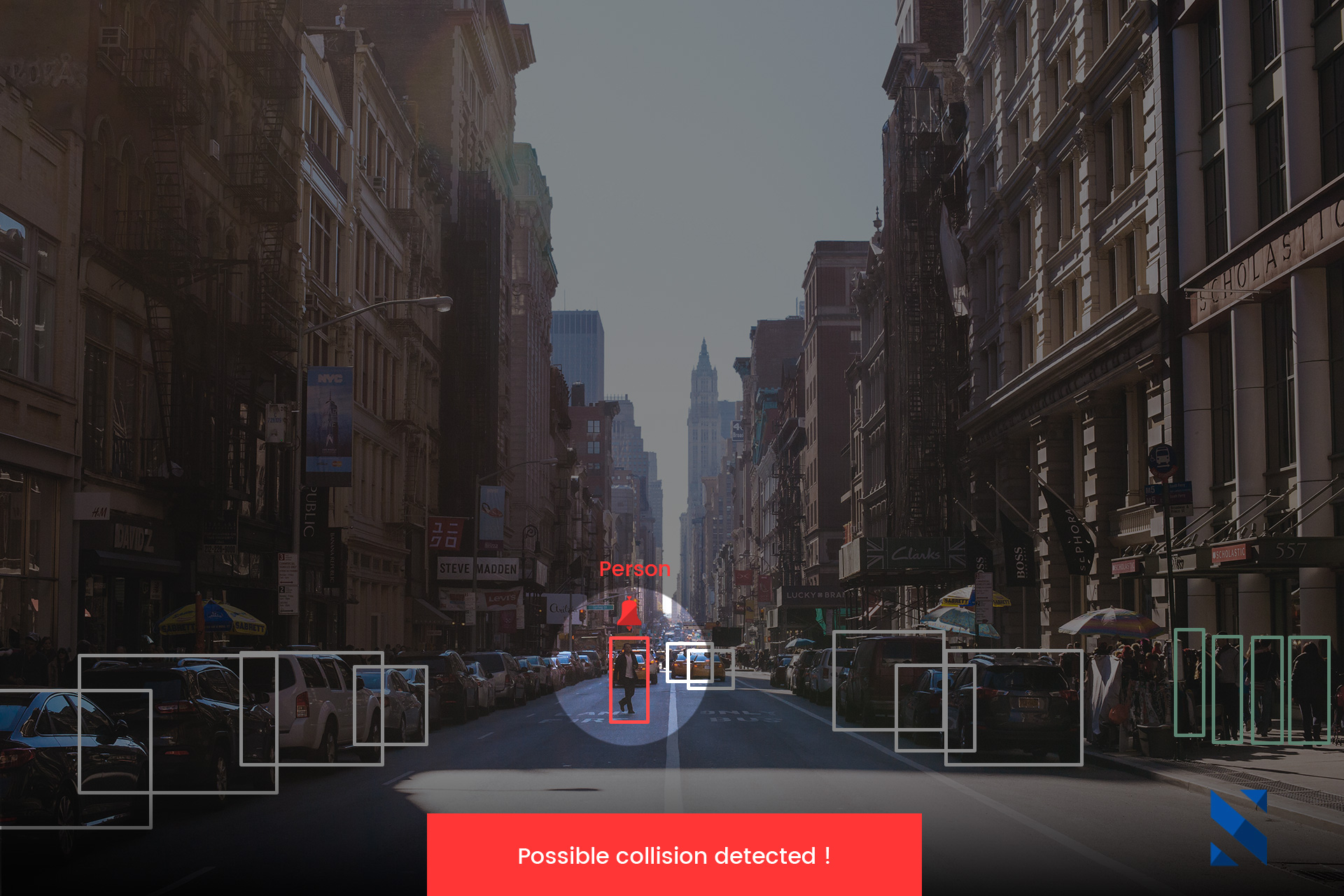 use case automotive, detection of potential collision on the road